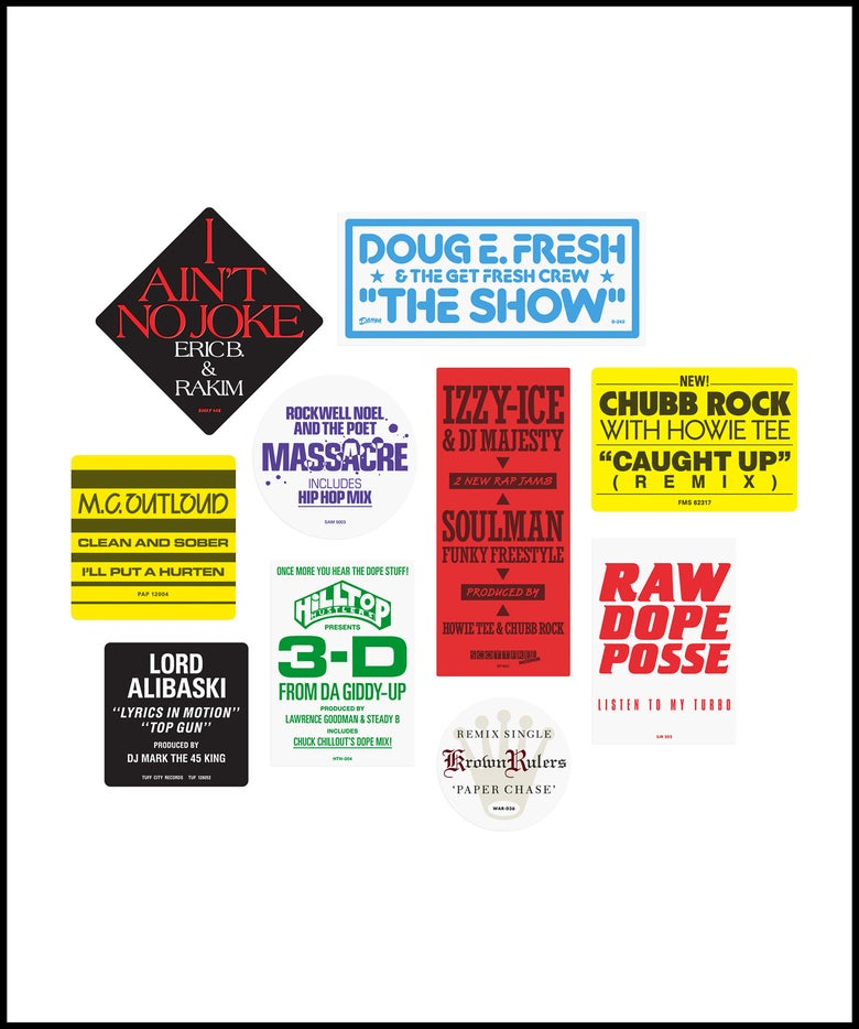 """Image of """"Don't Believe The Hype...Sticker"""" 1980s pack No. 1 (February 2021)"""