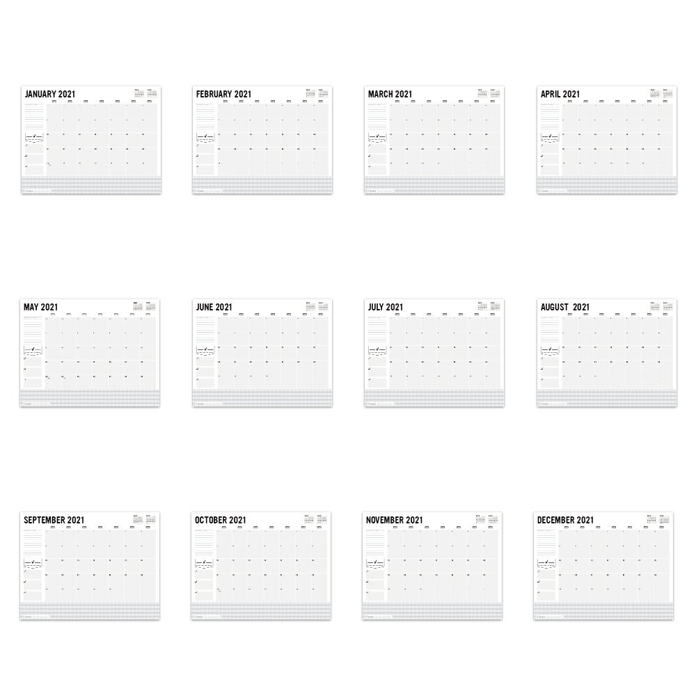 Image of PRINTABLE 2021 DESK CALENDAR