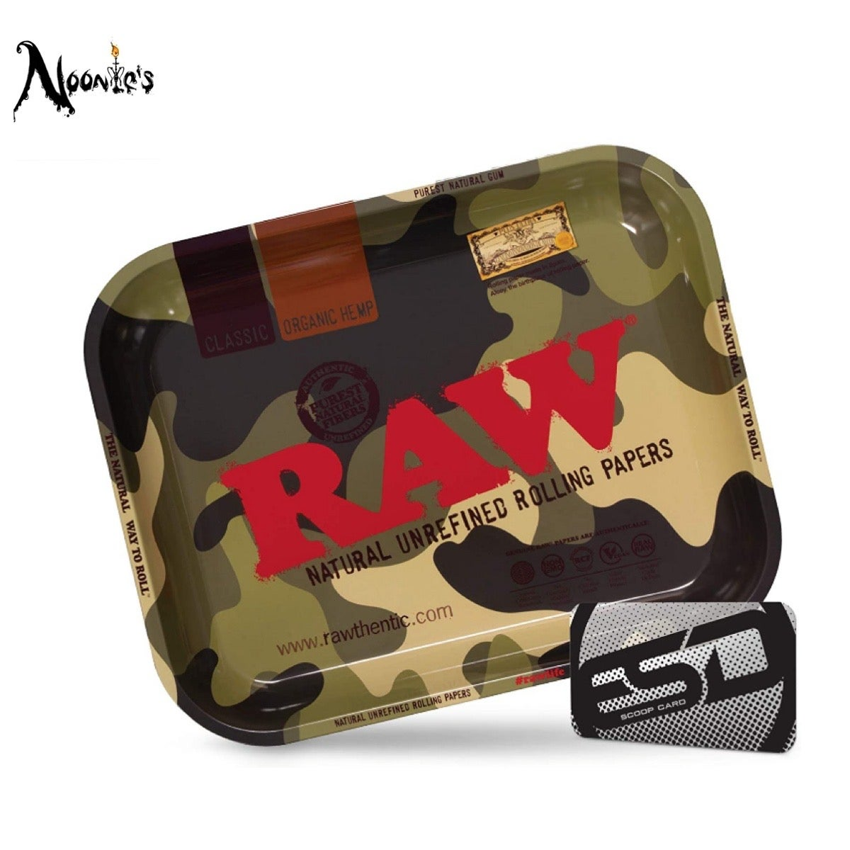 Image of The raw camouflage rolling tray