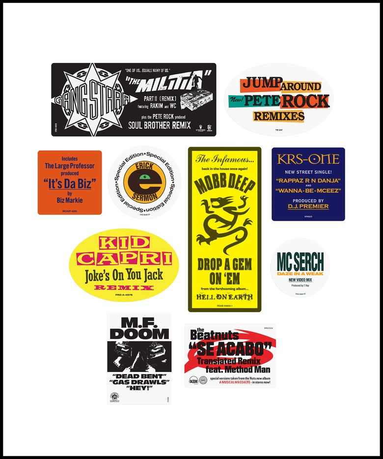 """Image of """"Don't Believe The Hype...Sticker"""" 1990s pack No. 1 (February 2021)"""
