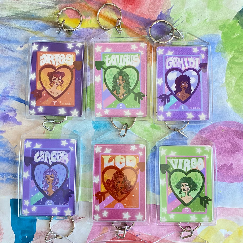 Image of PULP ASTROLOGY KEYCHAINS