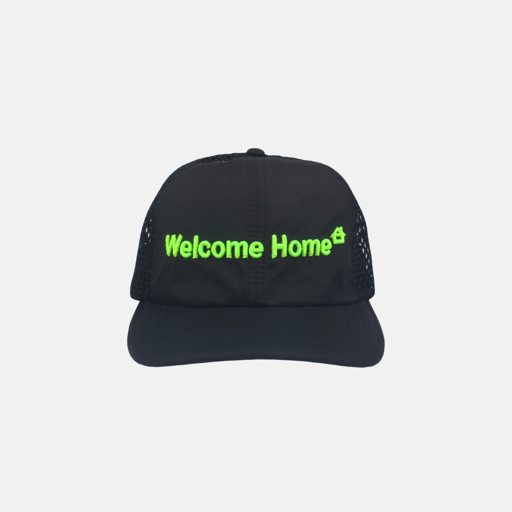 Image of WELCOME HOME NATURE HAT (BLACK/NEON GREEN)