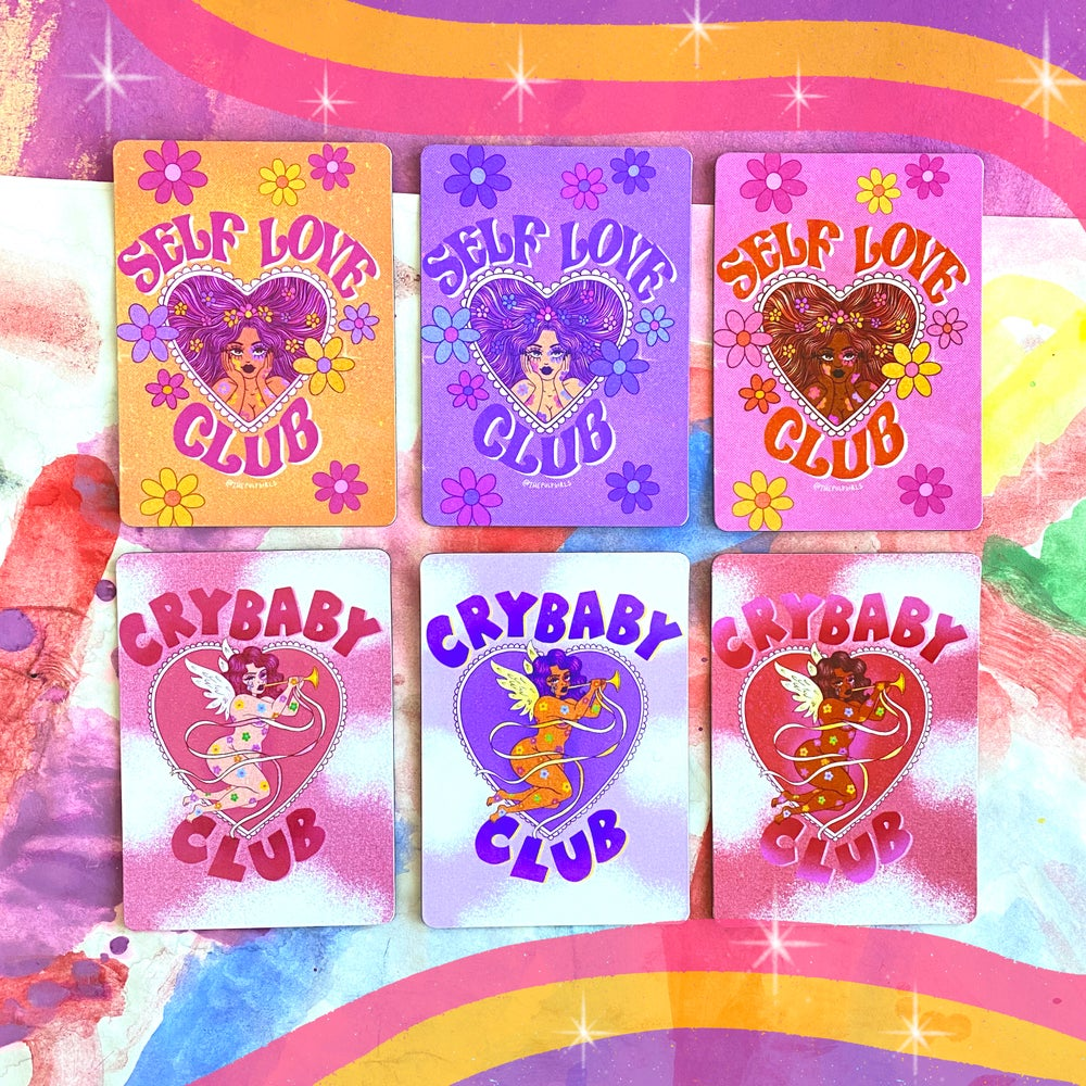 Image of CRYBABY CLUB OR SELF LOVE MAGNETS
