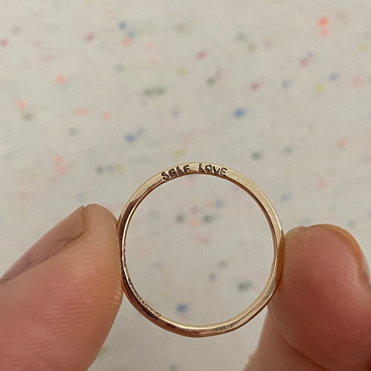 Image of Tiniest custom gold ring
