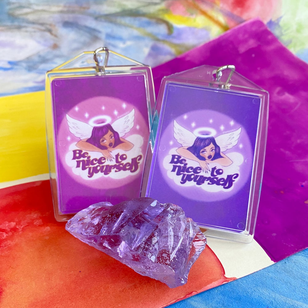 Image of BE NICE TO YOURSELF KEYCHAINS