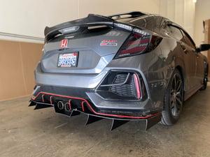 Image of 2016+  10th gen Honda Civic Sport rear diffuser