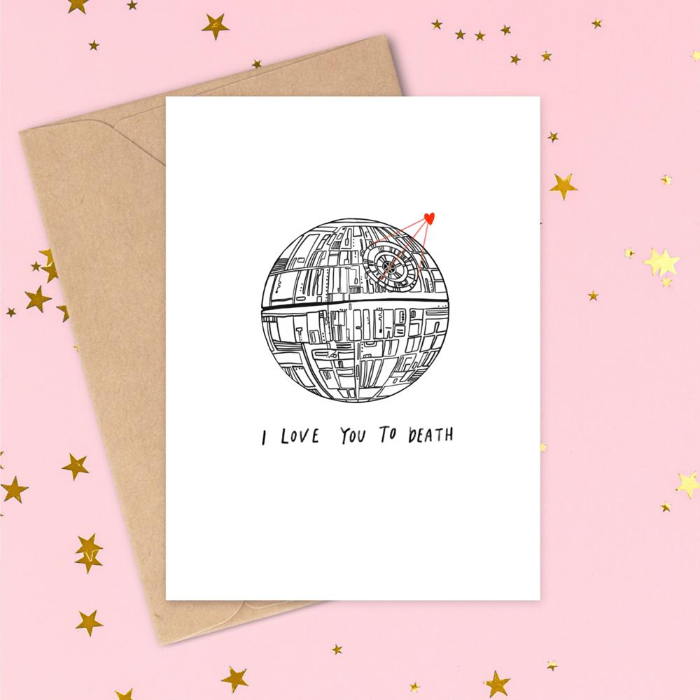 Image of Star Wars Death Star Valentine's Card