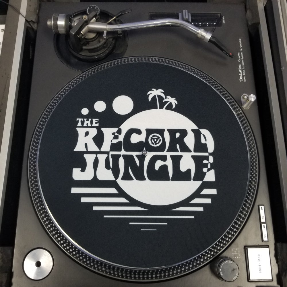 "NEW!! Record Jungle slipmat - 12""  for record player - Black/ Whitex2 (Pair)"