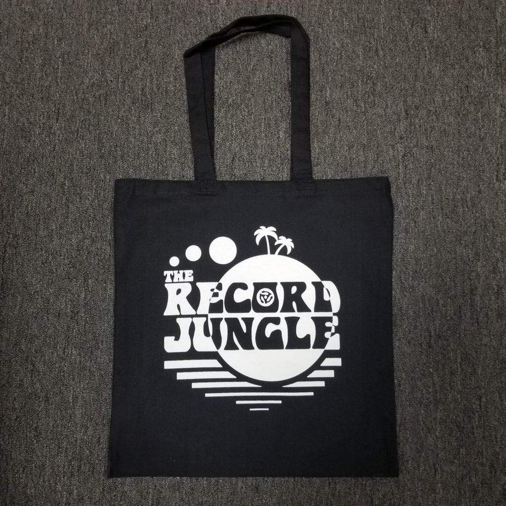 Record Jungle Tote Bag - Black / White