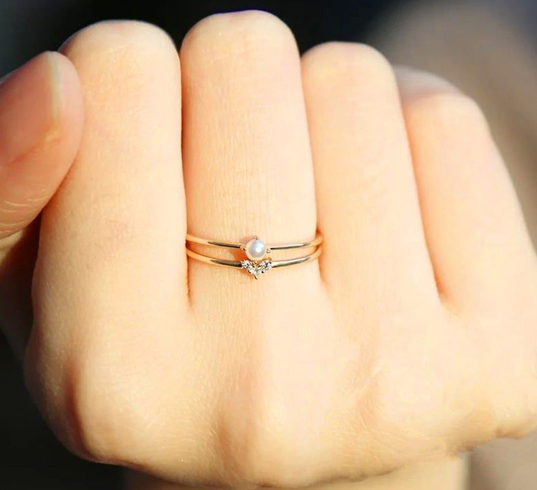 Image of Dainty Petite Stacking Rings