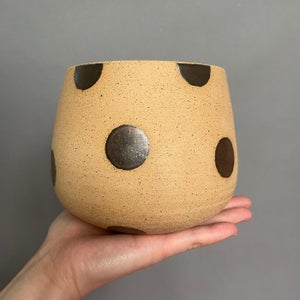 Image of Saturated gold dotted planter