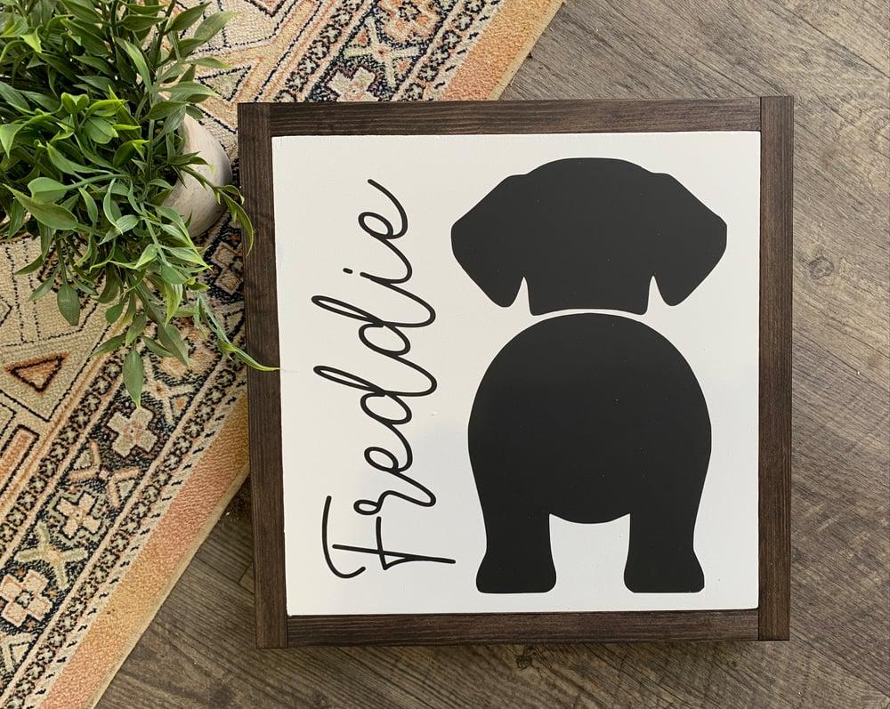 Image of Custom pet sign