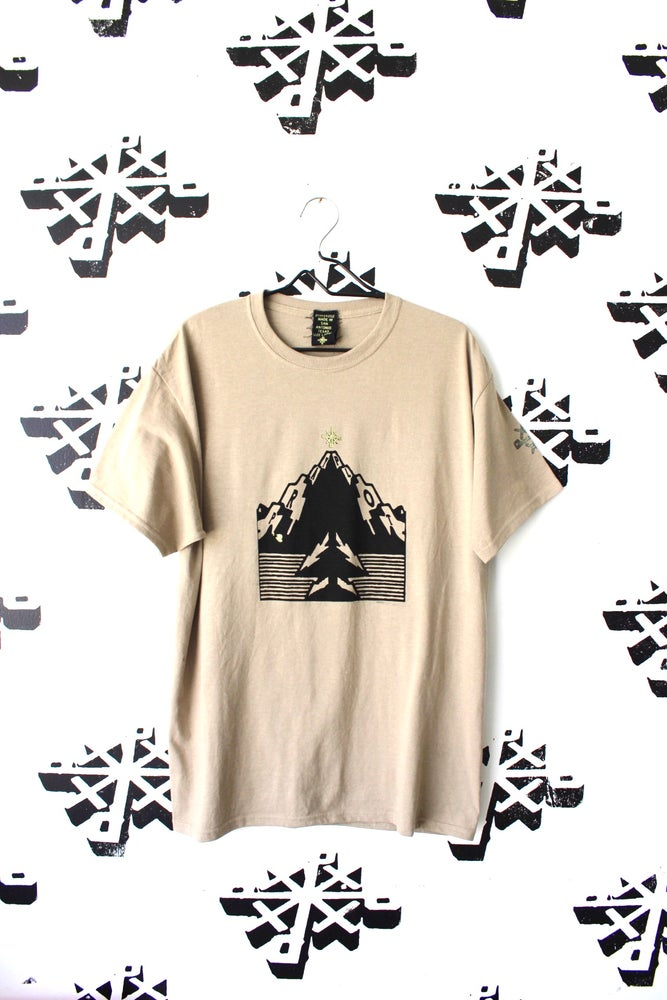 Image of ain't no mountain tee in tan