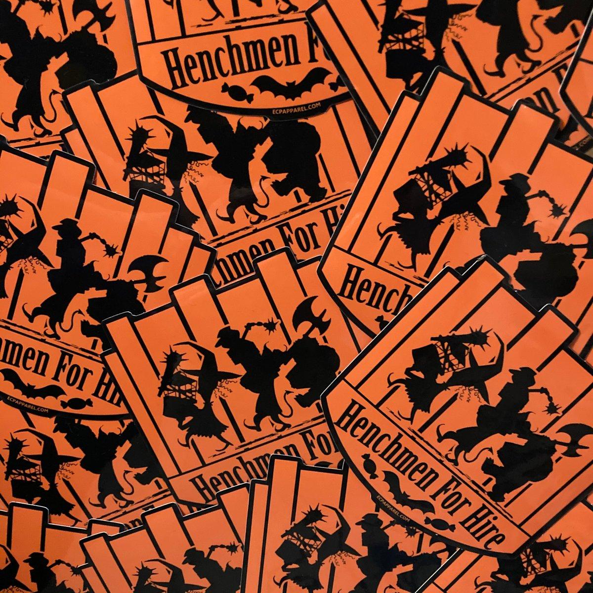 """""""Henchmen For Hire"""" Die-cut Sticker"""