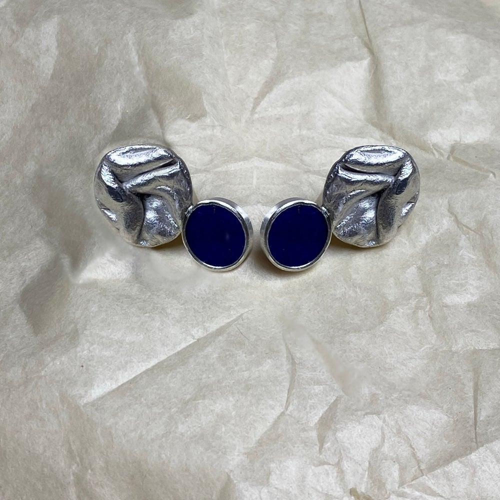 Image of Uisce Upside  Down Blue Earrings