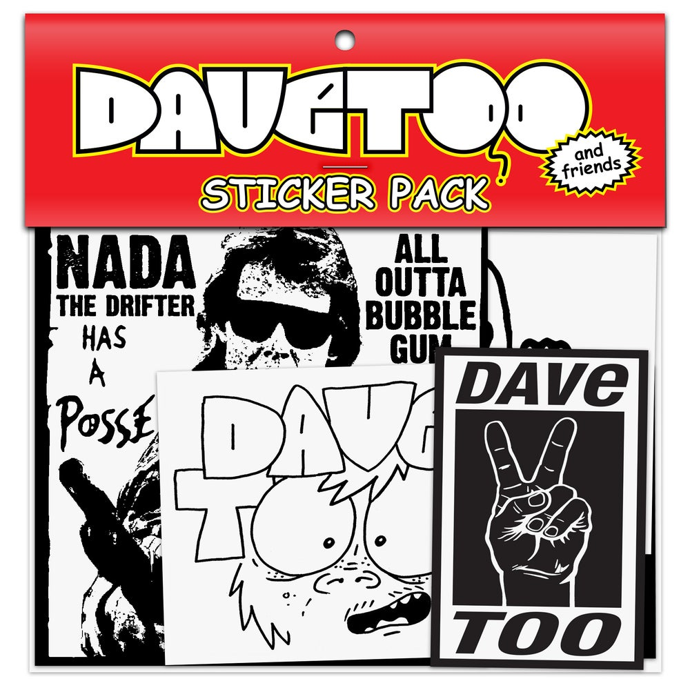 Image of DAVe TOO and friends Sticker Pack