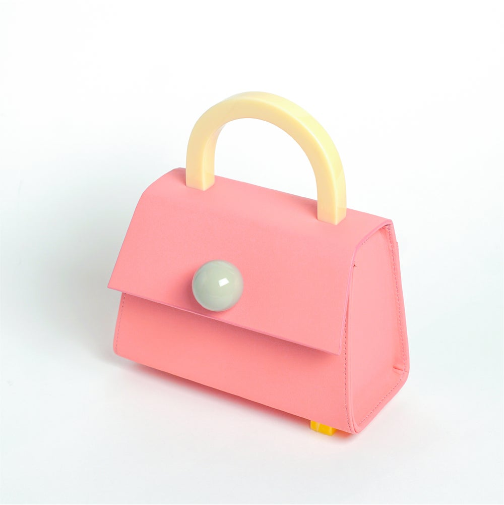 Diva satchel bag • PEACH BLOSSOM with strap