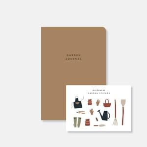Image of Garden journal & stickers