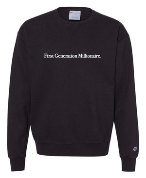 Image of First Generation Millionaire  Champion Collection [ Black ]
