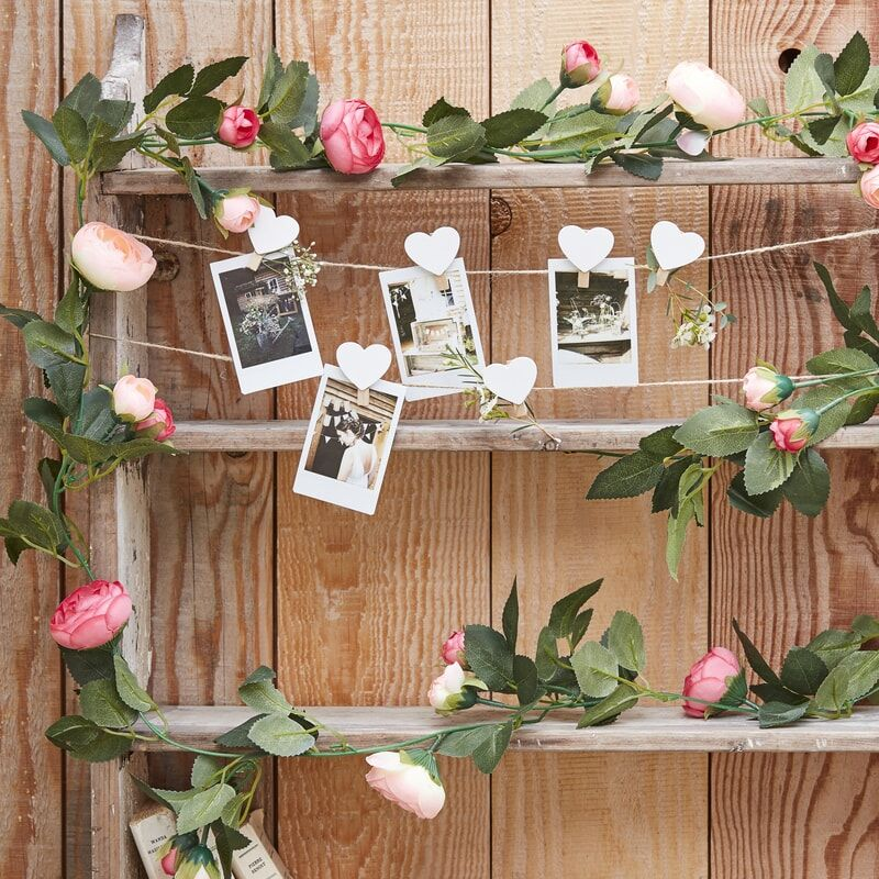 Image of Faux Pink Peony Garland