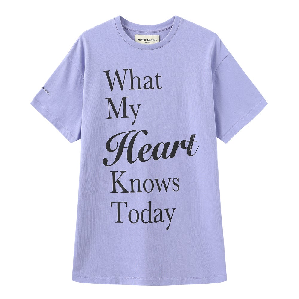 Matter Matters Oversized Long Tee with pockets / My Heart in Purple