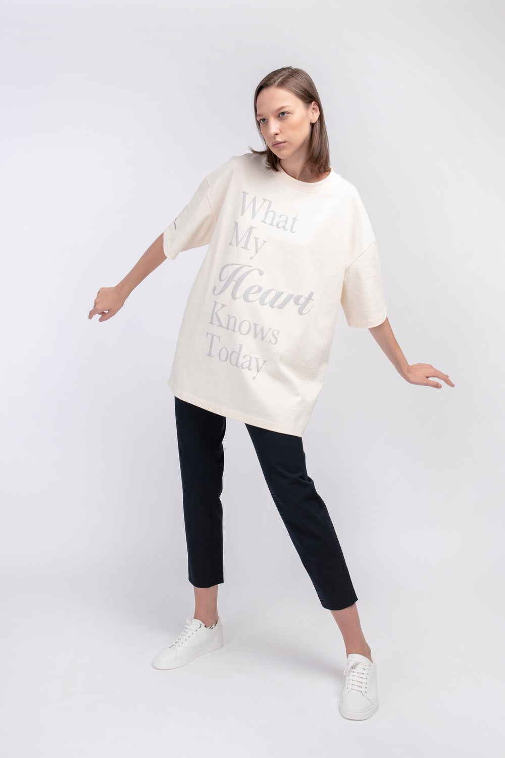 Matter Matters Oversized Long Tee with pockets / My Heart in Beige