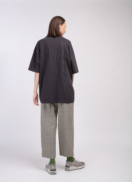 Matter Matters Oversized Long Tee with pockets / My Heart in Charcoal