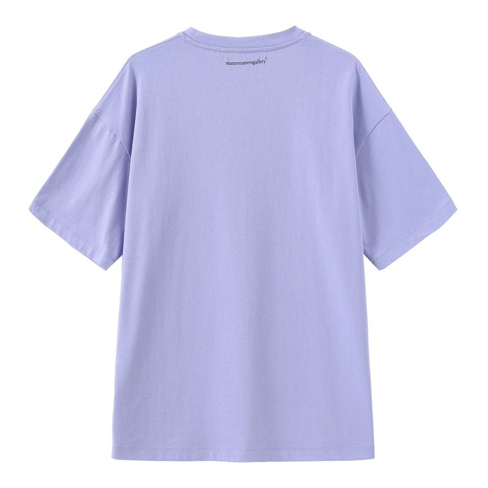 Matter Matters Oversized Long Tee with pockets / Read Shit in Purple