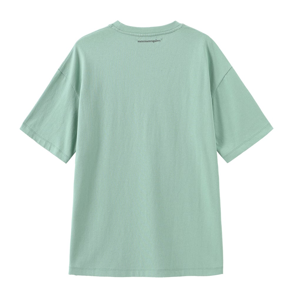 Matter Matters Oversized Long Tee with pockets / Read Shit in Mint