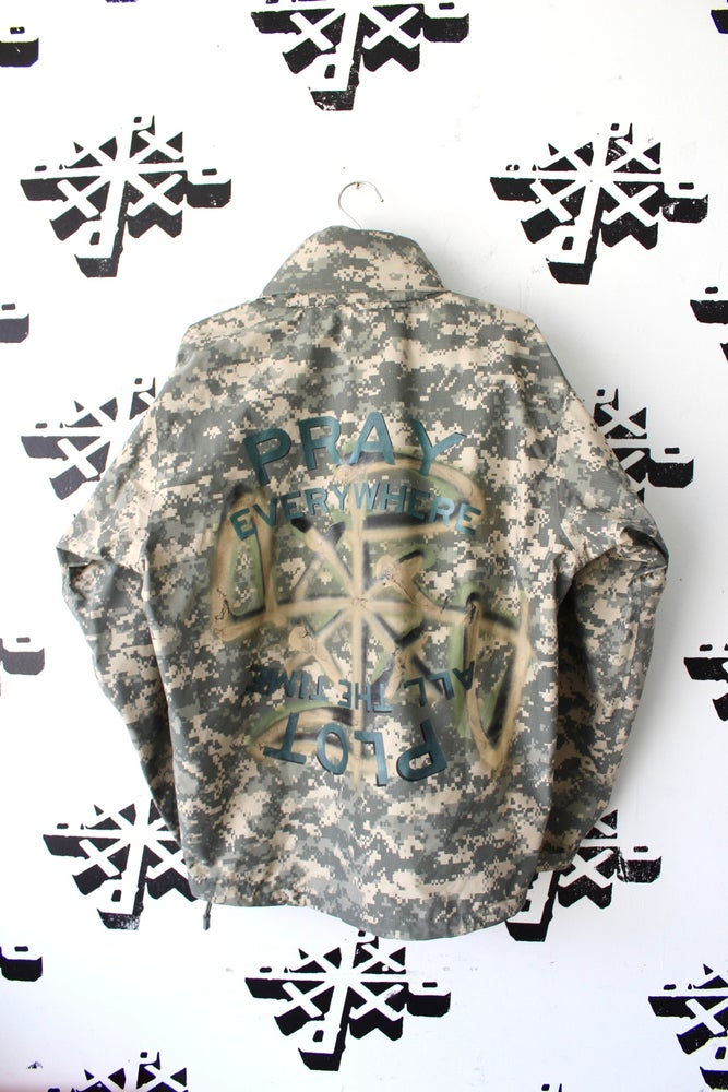 Image of really everywhere rain coat in camo