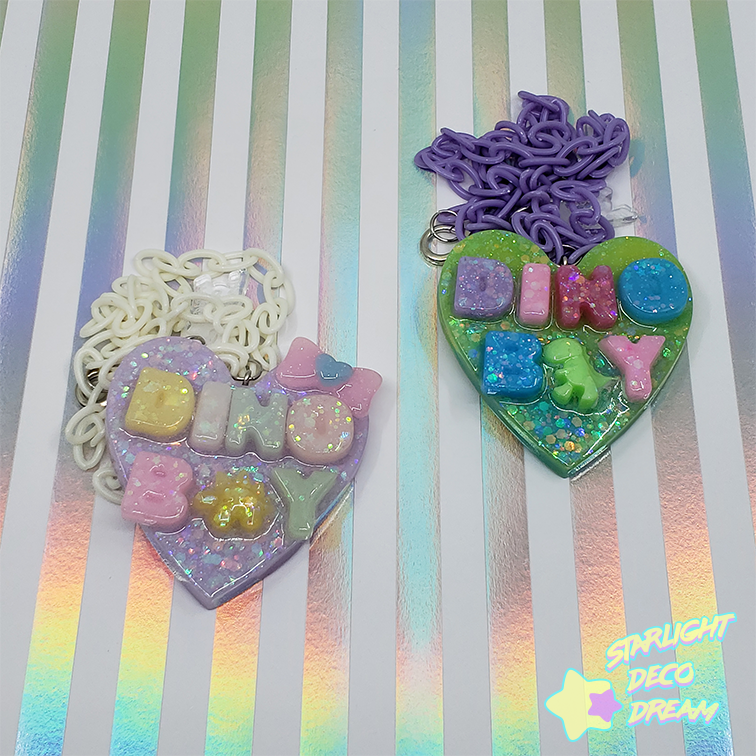 "Image of ""DINO BOY"" Conversation Heart Necklace"