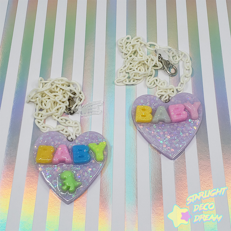 "Image of ""BABY"" Conversation Heart Necklace"
