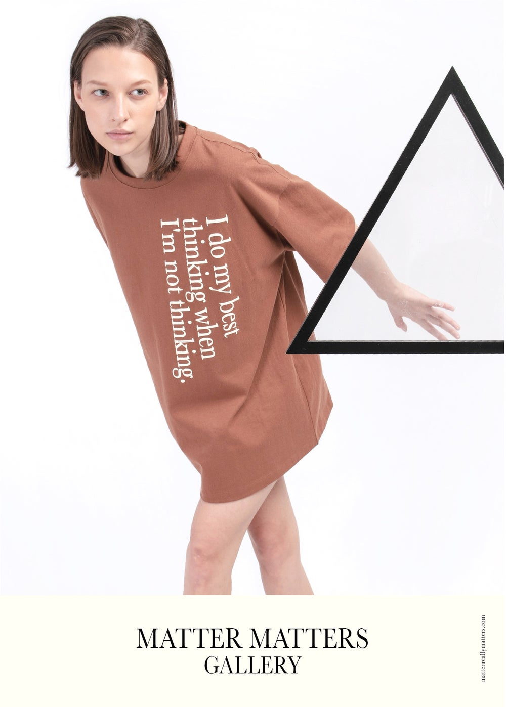 Matter Matters Oversized Tee / Best thinking - Brown
