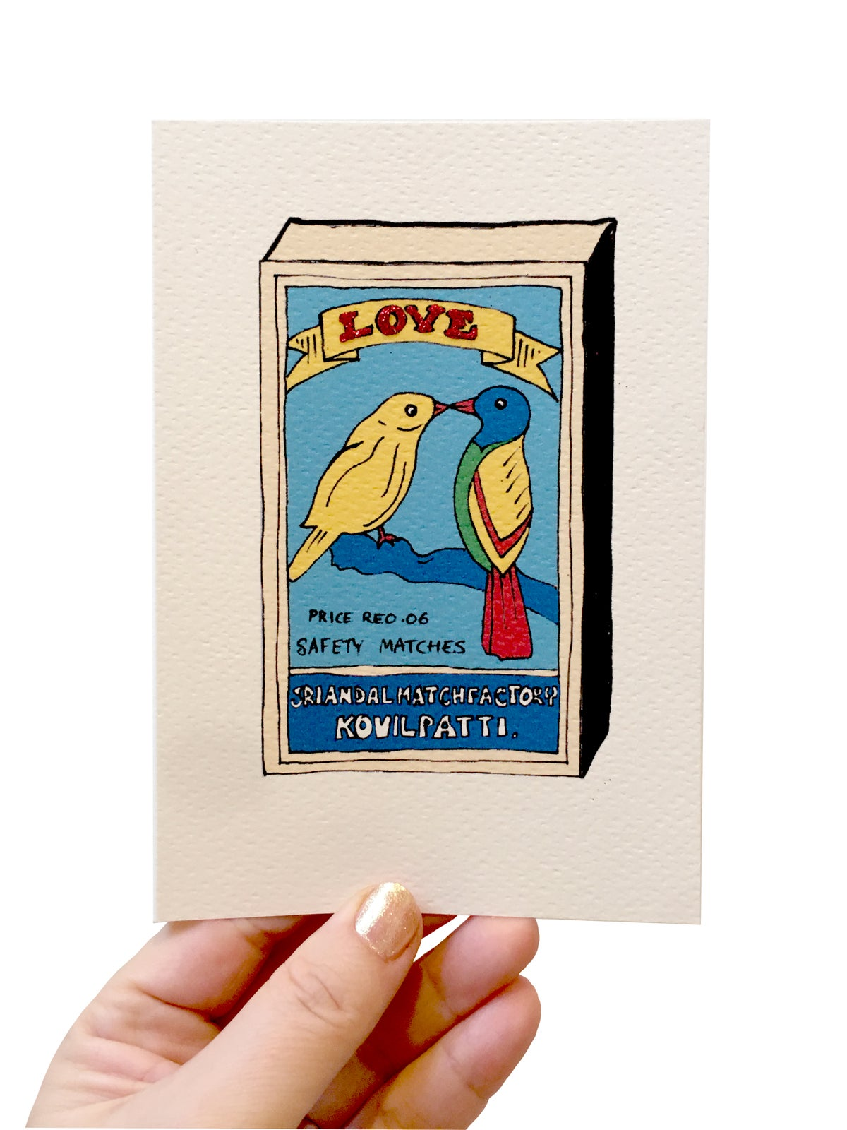 Matchbox Lovebirds Card