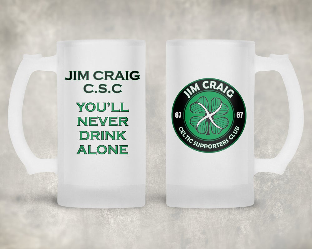 Jim Craig Csc Frosted Glass Stein