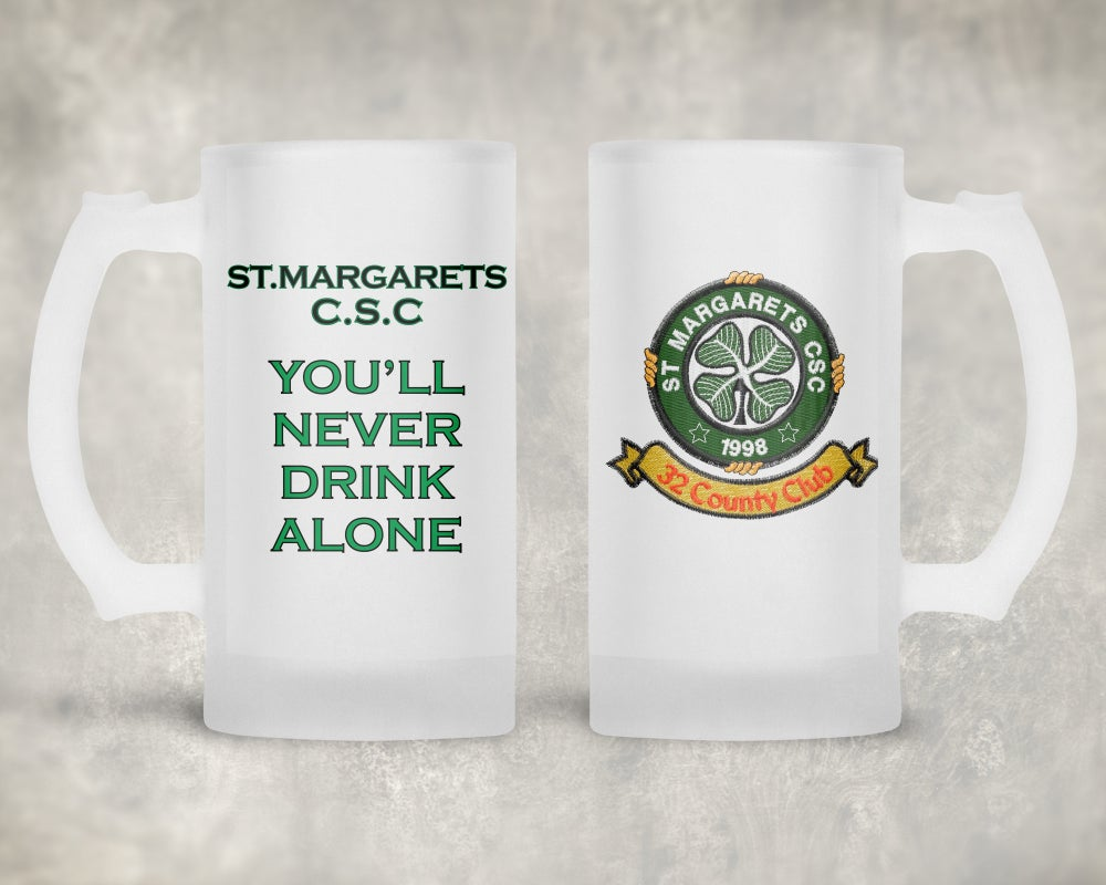 St.Margarets Csc Frosted Glass Stein