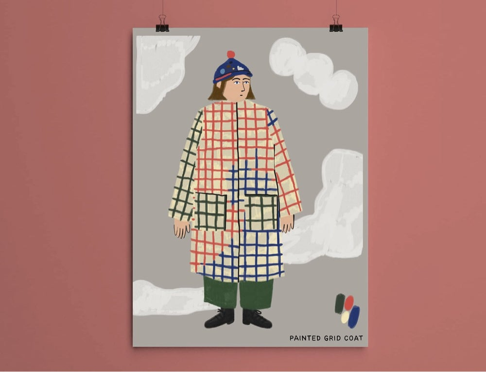 Image of PAINTED GRID COAT POSTER