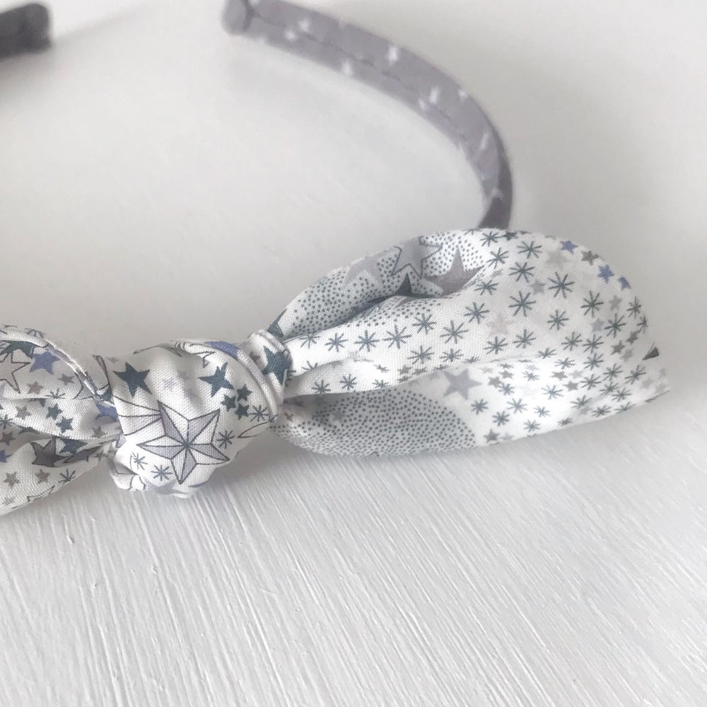 Image of Alice Band with Knotted Bow Embellishment