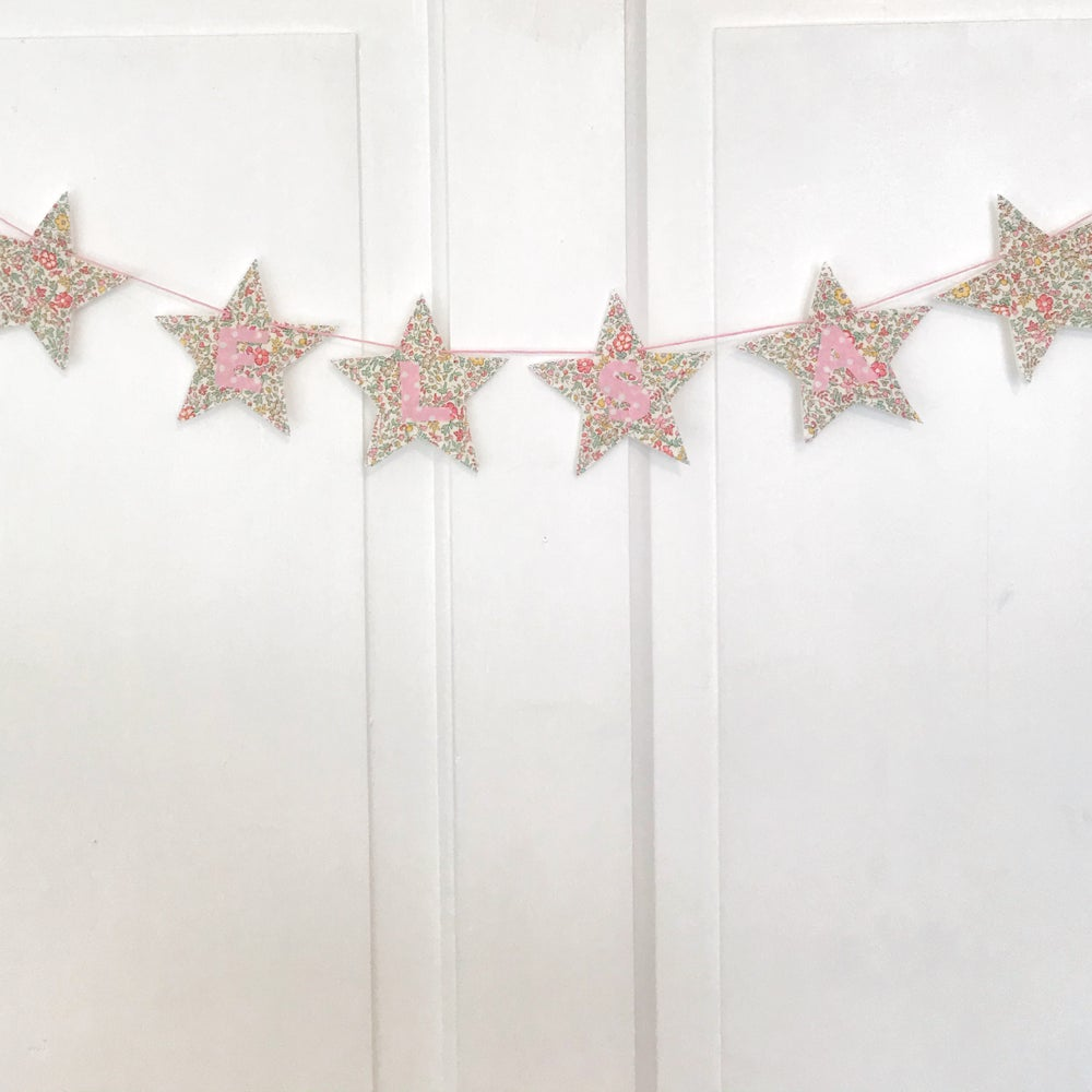 Image of Star Garland -Pink
