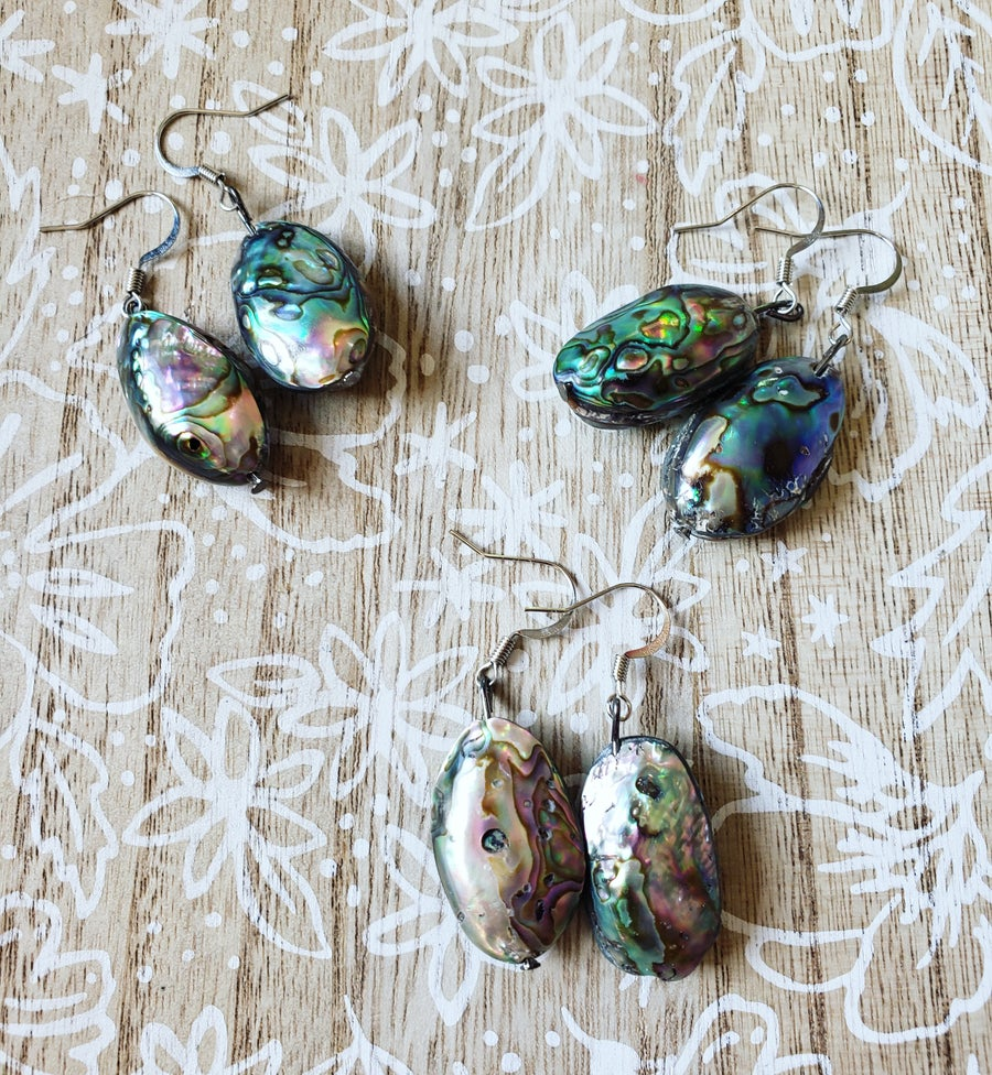 Image of Abalone shell earrings