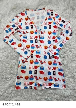 Image of Valentines Onsies w/ Butt Flaps