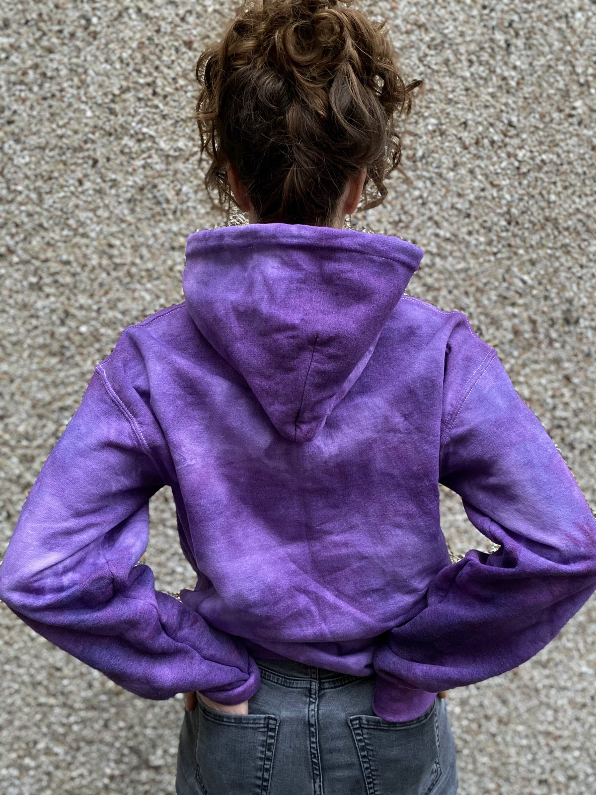 Image of Purple Tie-Dye Hoodie (Small)