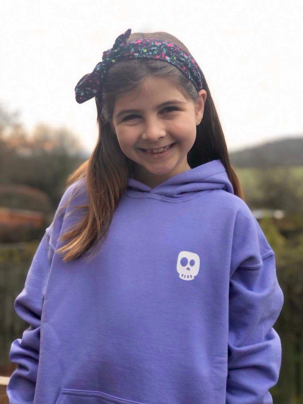 Skye skull hoodie - child