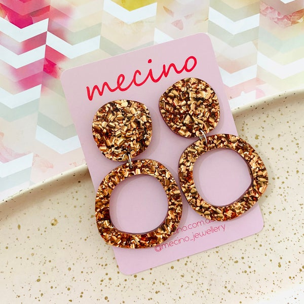 Image of Isla - Rose Gold Abstract Circle Statements from