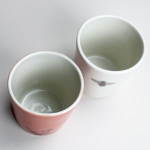 Image of set of two 12oz tumblers, chicken and bumblebee