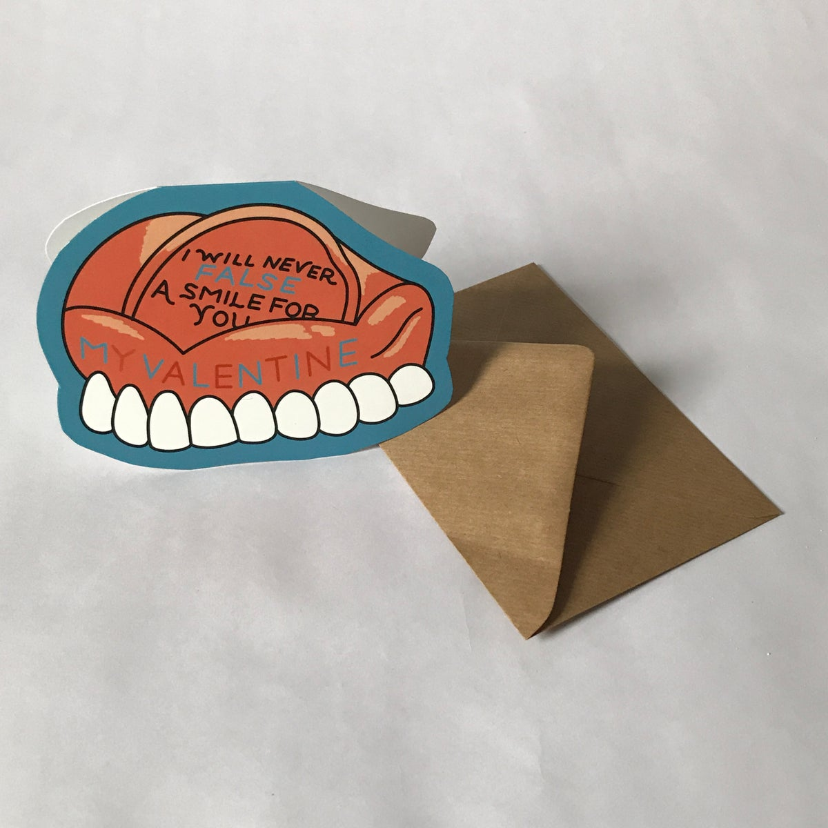 Image of REAL SMILE VALENTINES CARD