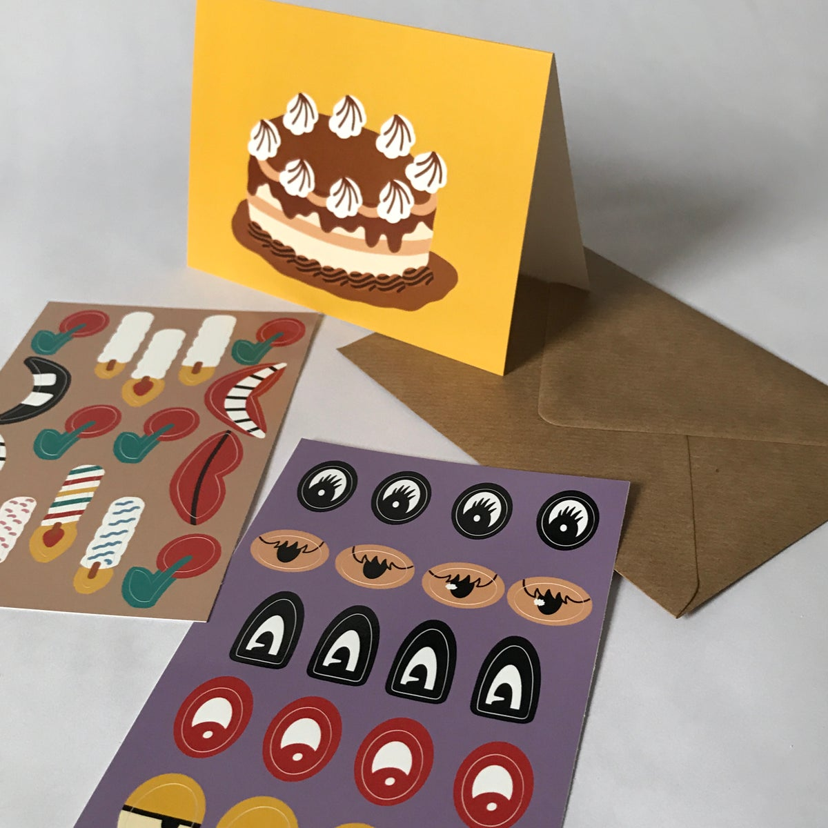 Image of D.I.Y. CAKE CARD WITH STICKER PACK!