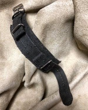 Image of Dark grey distressed canvas Bund watch strap