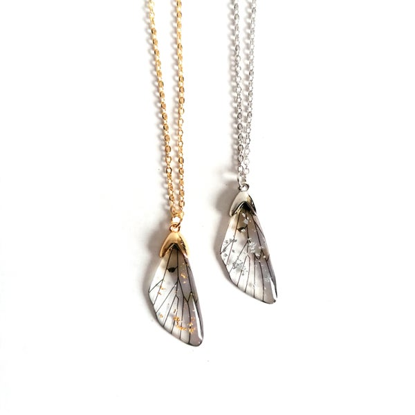 Image of Mini Resin Cicada Wing Drop Pendant
