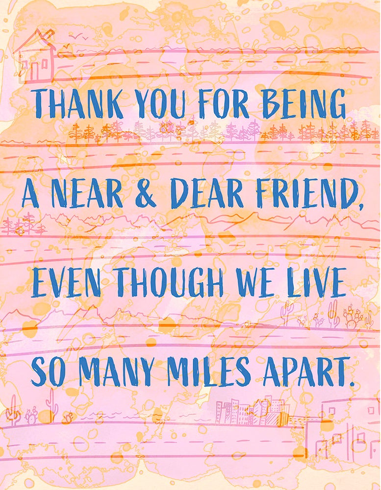 Image of Friendship Card - Miles Apart